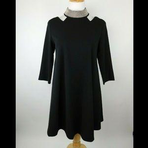 GRACIA Swing Cocktail Peekaboo Shoulder Dress